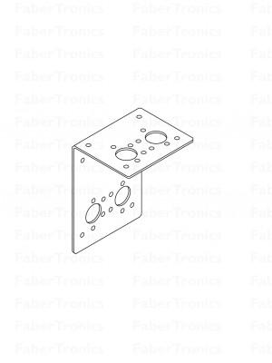 RVS316 montagebeugel L hoekprofiel dubbel - Huismerk