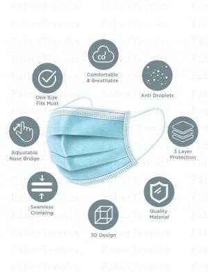O2r - Ply iiR Earloop chirurgische mondkapjes 50st per stuk verpakt