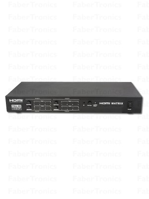 HDMI 4x4 matrix switch met LAN