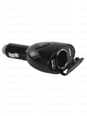 HQ Dubbele USB autolader + 12v plug
