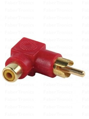 Haakse RCA adapter Rood