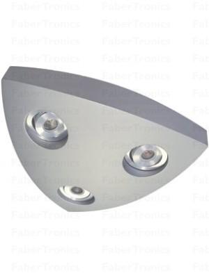 Luzern dimbaar LED opbouwarmatuur driehoek warm wit