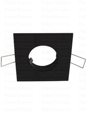 Vierkant Luzern inbouwarmatuur Zwart