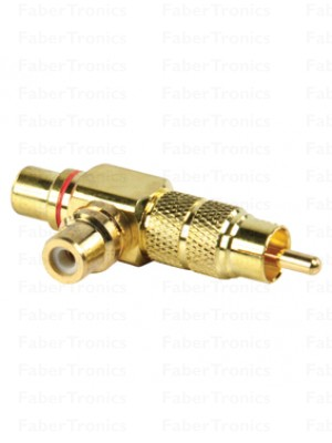 RCA adapter plug rood