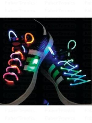 LED schoenveters Groen/Paars