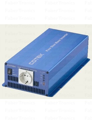 Cotek SK 700-212 zuivere sinus omvormer 12-230V 700W