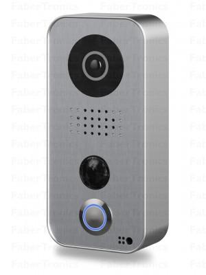 DoorBird IP Deurintercom D101S, Polycarbonaat behuizing, Strato-Silver Editie