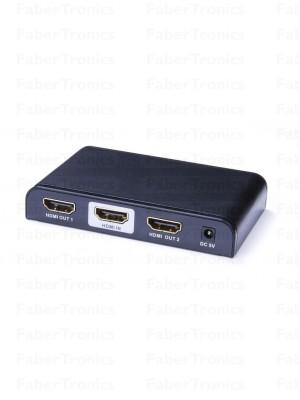 HDMI splitter 2 poorts 3D 4K Pro - Huismerk