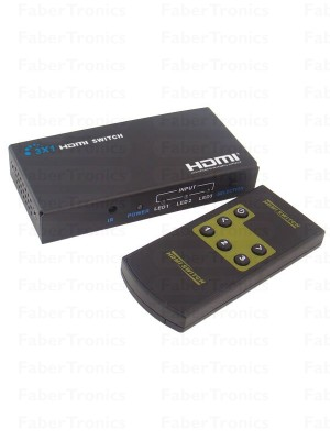 3 Poorts HDMI switch 3D - Huismerk