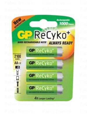 GP ReCyko 2100mAh AA 4 stuks