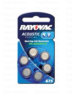 Rayovac Hoortoestel batterij nr.675, Blauw