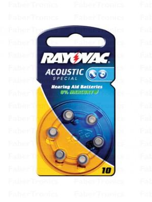 Rayovac Hoortoestel batterij nr.10, Geel