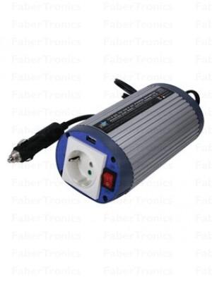 HQ omvormer 12-230V 150W met USB