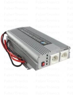 HQ omvormer 24-230V 1000W met acculader