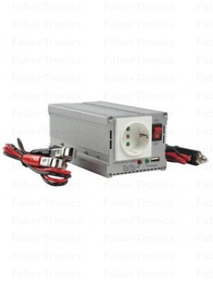 HQ omvormer 12-230V 300W met USB