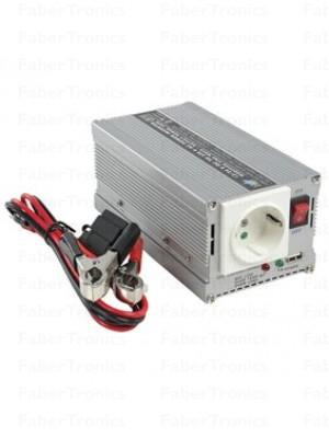 HQ omvormer 24-230V 300W met USB