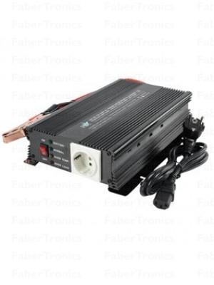 HQ omvormer 24-230V 600W met acculader