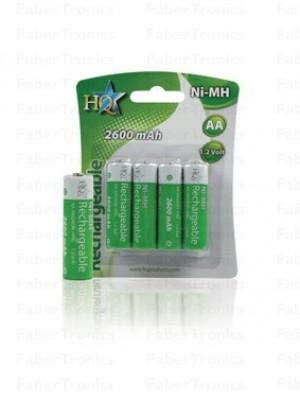 HQ AA batterijen 2600mAh 4stuks