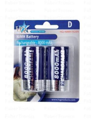 HQ D batterijen 8000mAh 2 stuks