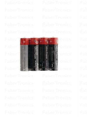 Alkaline AA-batterij shrink pack 4 stuks
