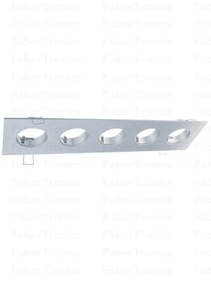 Rechthoek Luzern inbouwarmatuur Aluminium 5voudig