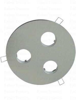 Rond Luzern / Verona inbouwarmatuur Aluminium 3voudig 200mm