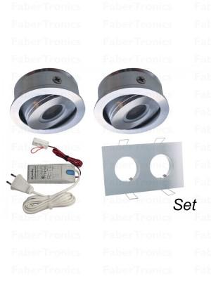 2voudig Aluminium Luzern LEDverlichtingsset