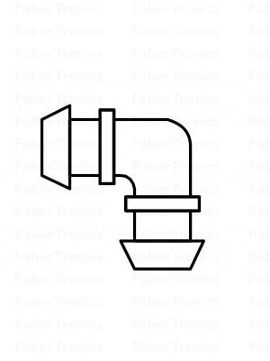 Webasto koelwaterslang koppelstuk 18x18 90gr haaks p/s