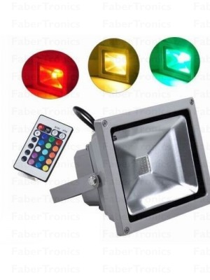 10W LED bouwlamp / Floodlight RGB