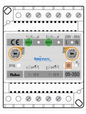 Niko Easywave RF DIN-rail ontvanger dimmer 2 kanalen
