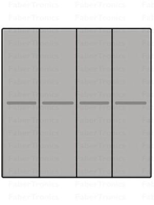 Niko Easywave bedieningstoets 4V Sterling 121-00015