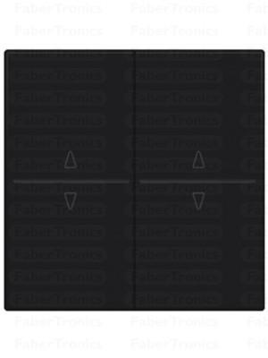 Niko Easywave bedieningstoets 2V Antraciet 122-00010