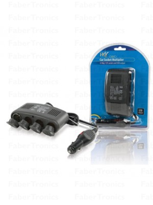 HQ 4-weg auto splitter + usb