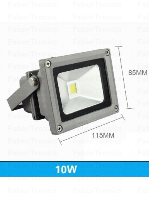 10W LED bouwlamp / Floodlight koud wit