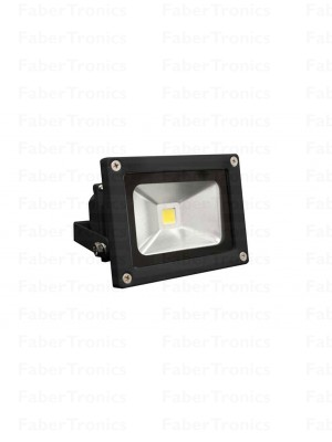 10W LED bouwlamp / Floodlight warm wit (Zwarte behuizing)