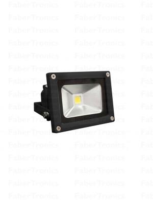 10W LED bouwlamp / Floodlight warm wit (Zwarte behuizing)