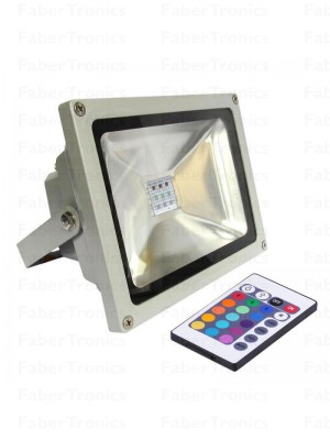 30W LED bouwlamp / Floodlight RGB
