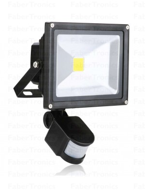 20W LED bouwlamp / Floodlight warm wit met sensor