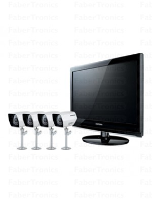 Samsung All in one 22'' LCD DVR + 4 camera's + IR