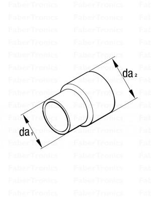RVS uitlaatkoppelstuk 24x30mm - Huismerk