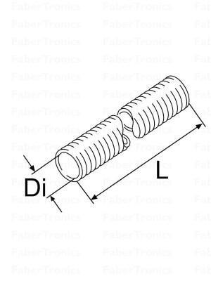 Webasto koelwaterslang hitte isolatie 28mm p/m
