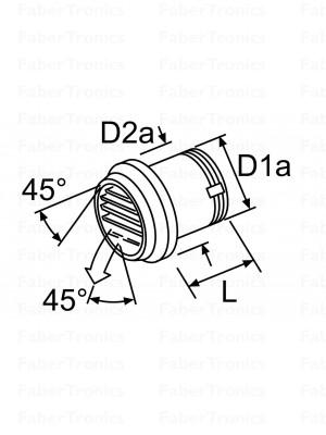 Webasto uitstroomrooster 45gr zwart 80mm draaibaar