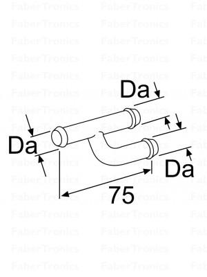 Webasto koelwaterslang verbindinsgstuk D18 staal