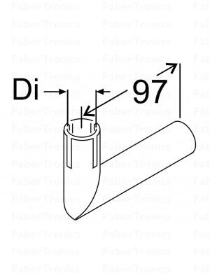 RVS uitlaatbochtstuk 24mm - Huismerk