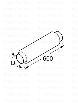 Webasto Ruisfilterslang 100 mm, lengte 500 mm