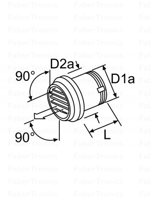 Webasto uitstroomrooster 90gr zwart 80mm draaibaar