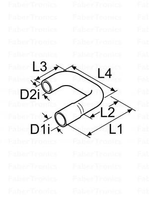 Webasto koelwaterslang vormslang 180° 20x18