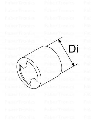 Webasto uitlaatslang eindkap / randbescherming t.b.v. 24mm slang