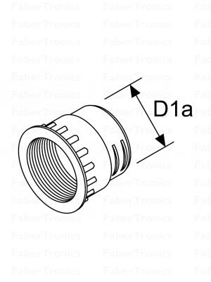 Webasto koppelstuk tbv uitstroomrooster 60mm