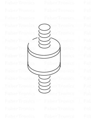Trillingsdemper - rubber buffer M6 RVS